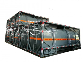 20FT ISO HCL Acid Tank Container 21cbm para Vietnam Chemical Factory Acid Trailer Transport