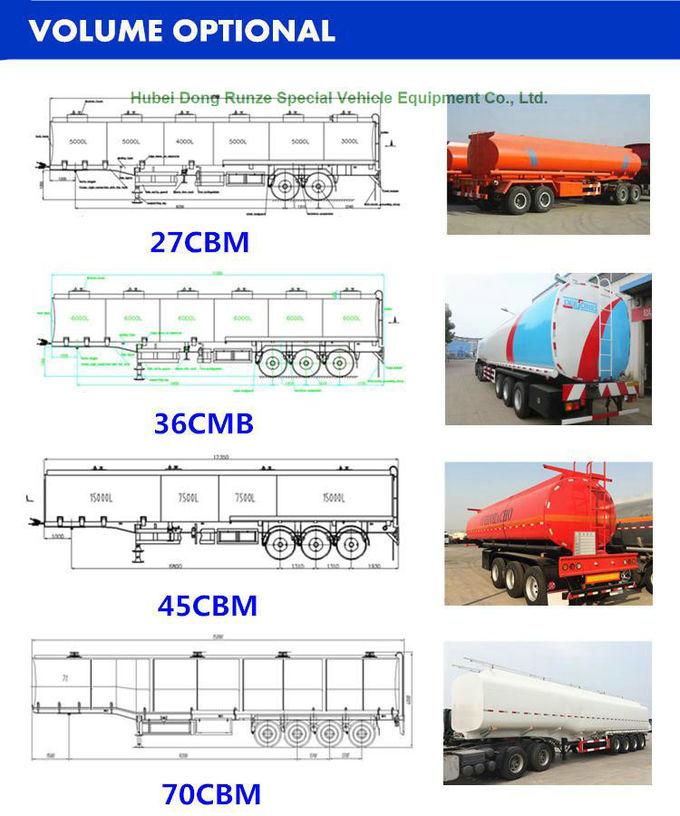 del combustible 44m3 árbol de aluminio del remolque 3 semi para el ...